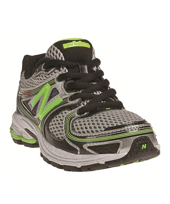 Gray & Lime Green KJ860 Running Shoe
