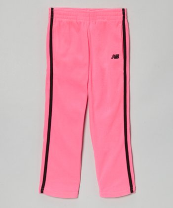 Fuchsia & Black Track Pants - Toddler & Girls