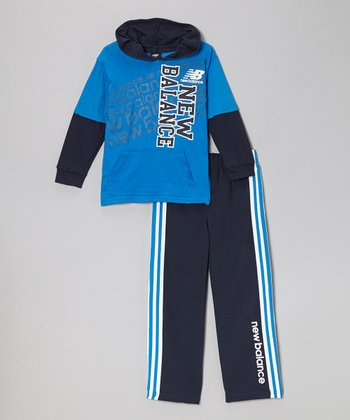 Ocean & Navy Hoodie & Track Pants - Toddler & Boys