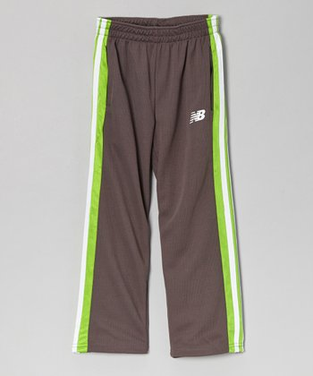 Charcoal & Lime Track Pants - Toddler