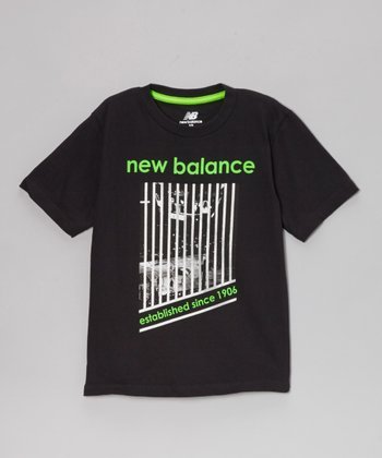 Black & Neon Lime '1906' Tee - Boys