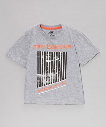 Gray & Orange '1906' Tee - Boys