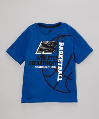 Royal Blue 'Basketball' Tee - Boys