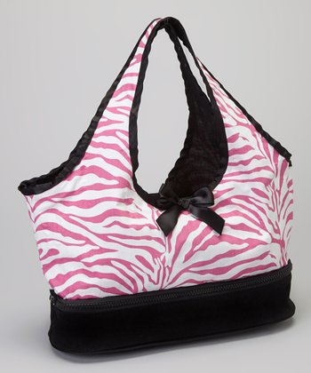 Pink & White Zebra Doll Carrier