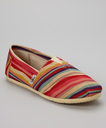 Red Stripe Slip-On Shoe