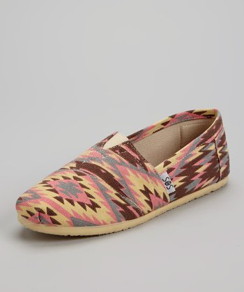 Pink Aztec Slip-On Shoe