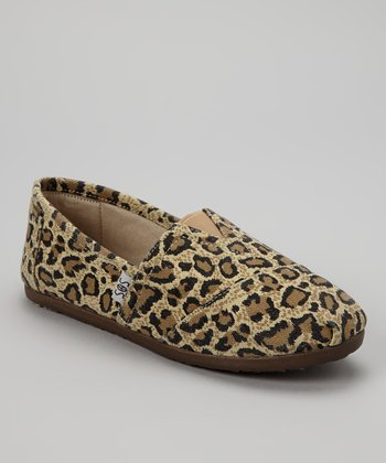 Brown Leopard Slip-On Shoe