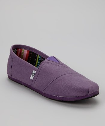 Purple Solid Slip-On Shoe