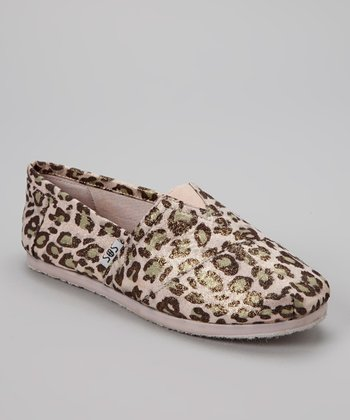 Light Pink Leopard Shimmer Slip-On Shoe