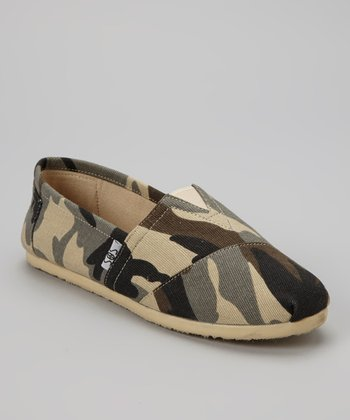 Beige Camo Slip-On Shoe