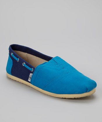 Teal & Navy Slip-On Shoe