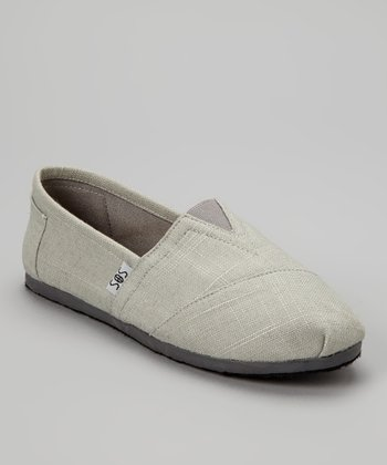 Gray Woven Slip-On Shoe