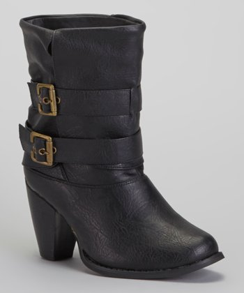Black Low Boot