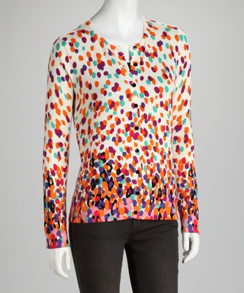 Bright Combo Crew-Neck Cardigan