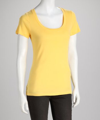 Ruffle Yellow Top