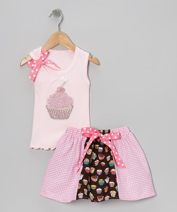 Pink Cupcake Tank & Skirt - Toddler & Girls