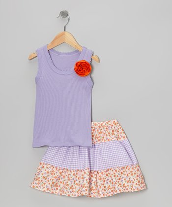 Purple Rose Tank & Tiered Skirt - Toddler & Girls