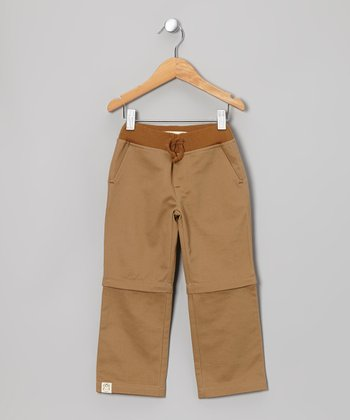 Owl & Hoot Tan Convertible Pants - Toddler & Kids