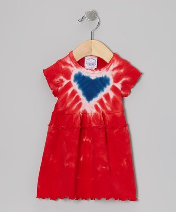 Americana Heart Ruffle Dress - Infant