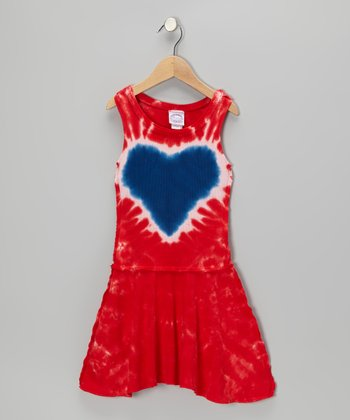 Americana Heart Drop-Waist Dress - Toddler & Girls