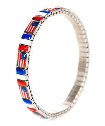 American Flag Bracelet - Set of Six