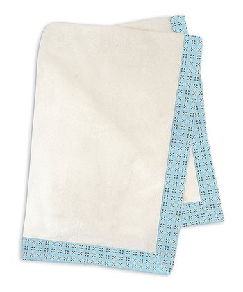 Blue Geometric Fleece Stroller Blanket