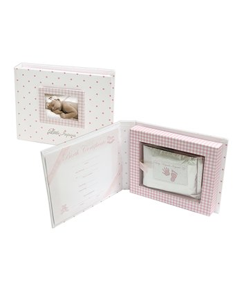 Pink Handprint Keepsake Box