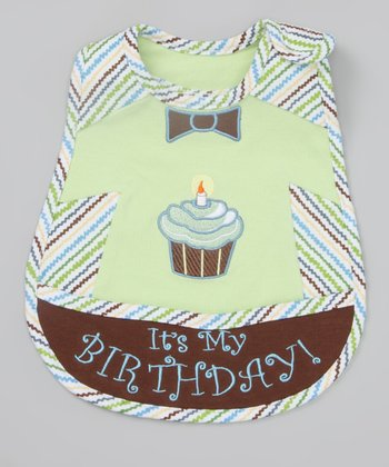 Green & Blue Cupcake Bib