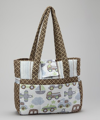 Light Blue Transportation Tote