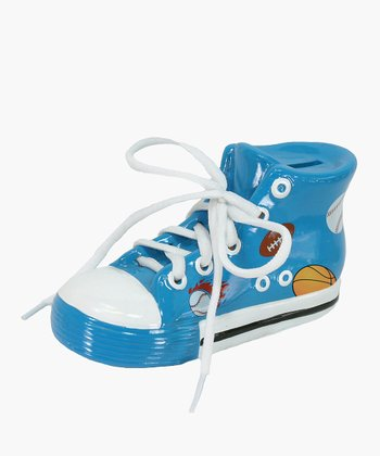 Blue All-Star Tennis Shoe Piggy Bank
