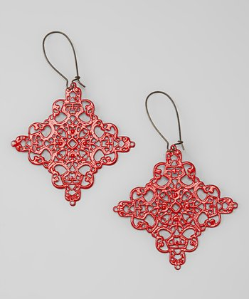 Red Lime Light Drop Earrings