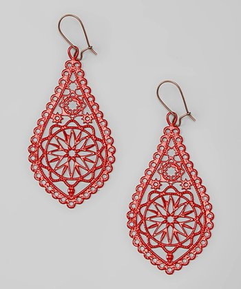 Red The Tropics Drop Earrings