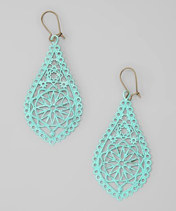 Aqua The Tropics Drop Earrings