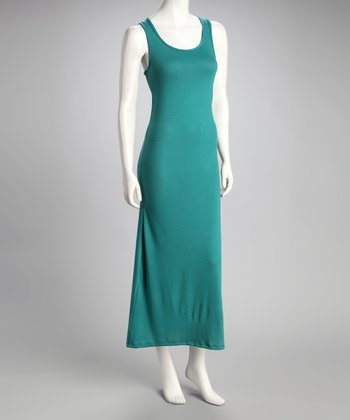 Turquoise Racerback Maxi Dress