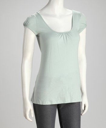 Sage Organic Scoop Neck Top