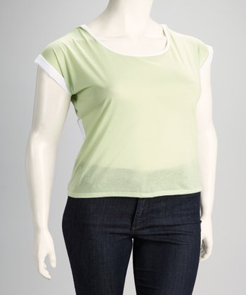 Sage Plus-Size Scoop Neck Top