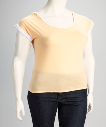 Cantaloupe Plus-Size Layered Racerback Top