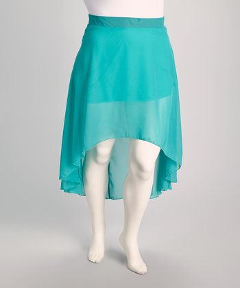 Jade Plus-Size Hi-Low Skirt