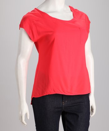 Coral Plus-Size Top