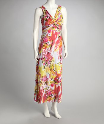 Pink & Yellow Flower Dress