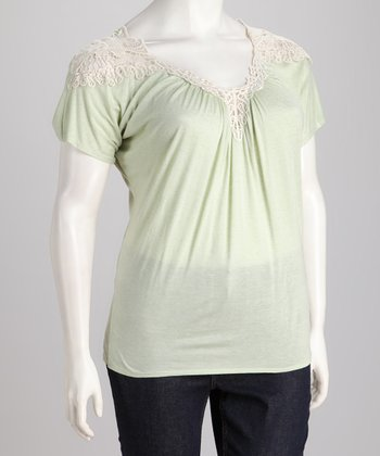 Sage Crochet Plus-Size Top