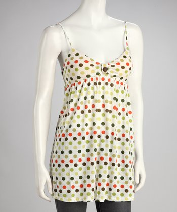 Green Polka Dot Tank