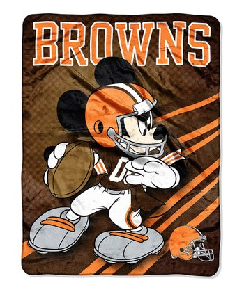 Mickey Mouse Cleveland Browns Throw