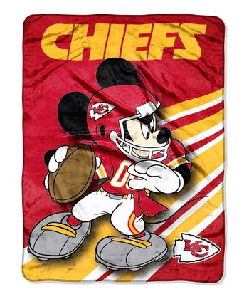 Mickey Mouse Kansas City Chiefs Throw