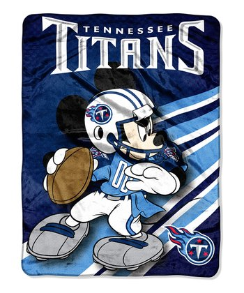 Mickey Mouse Tennessee Titans Throw