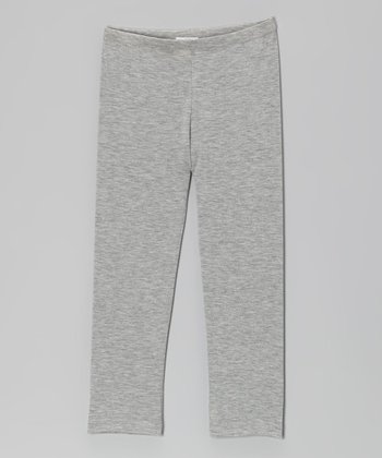 Heather Gray Leggings - Girls