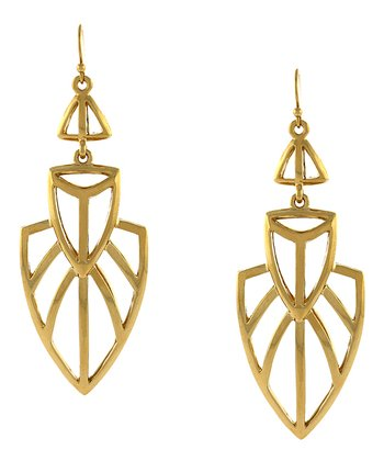Gold African Princess Drop Earring