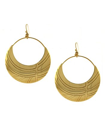 Gold African Princess Earrings