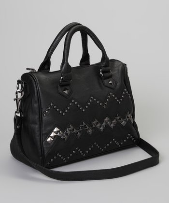 Black Stud Monica Satchel