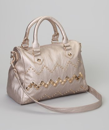 Pewter Stud Monica Satchel